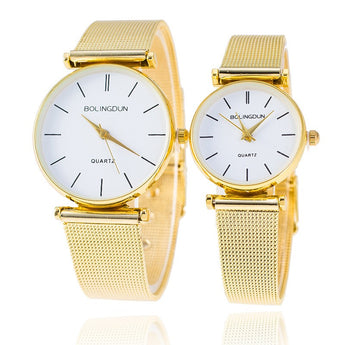 VALENTINE Fashion Couple Watch Top Brand Luxury Gold - Rich In Apparel