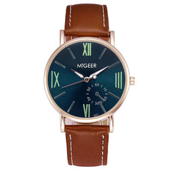 Luxury Fashion Crocodile Faux Leather Mens Analog Wrist Watches - Rich In Apparel