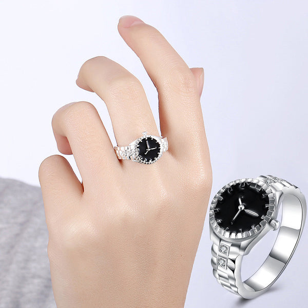 Valentine Creative Steel Finger Ring Watch Women - Rich In Apparel