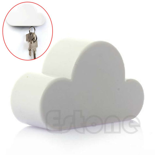 New Hot Novelty White Color Cloud Shaped Magnetic Magnets Key Holder Gift - Rich In Apparel