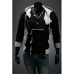 Hot sale styles Men's Autumn and winter cardigan Korean men's Hoodie Jacket Black - Rich In Apparel