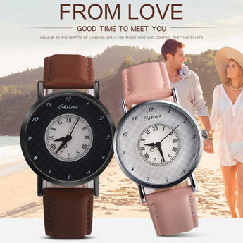 Valentine love's Watch fashion casual watch women Luxury lovers watch couples watches leather band Ladies gift     12.6