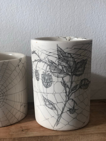 Collected 2019 Web & Raspberry drawing Tumbler