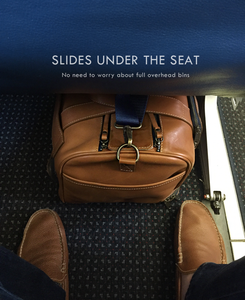nokeo journey mini duffel bag fits under the airplane seat as a carryon