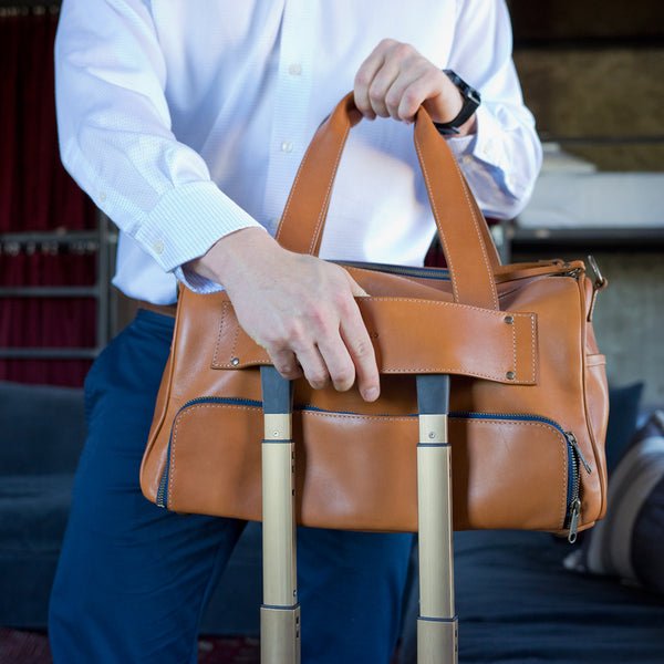 Journey Mini Duffel Tan Geometric