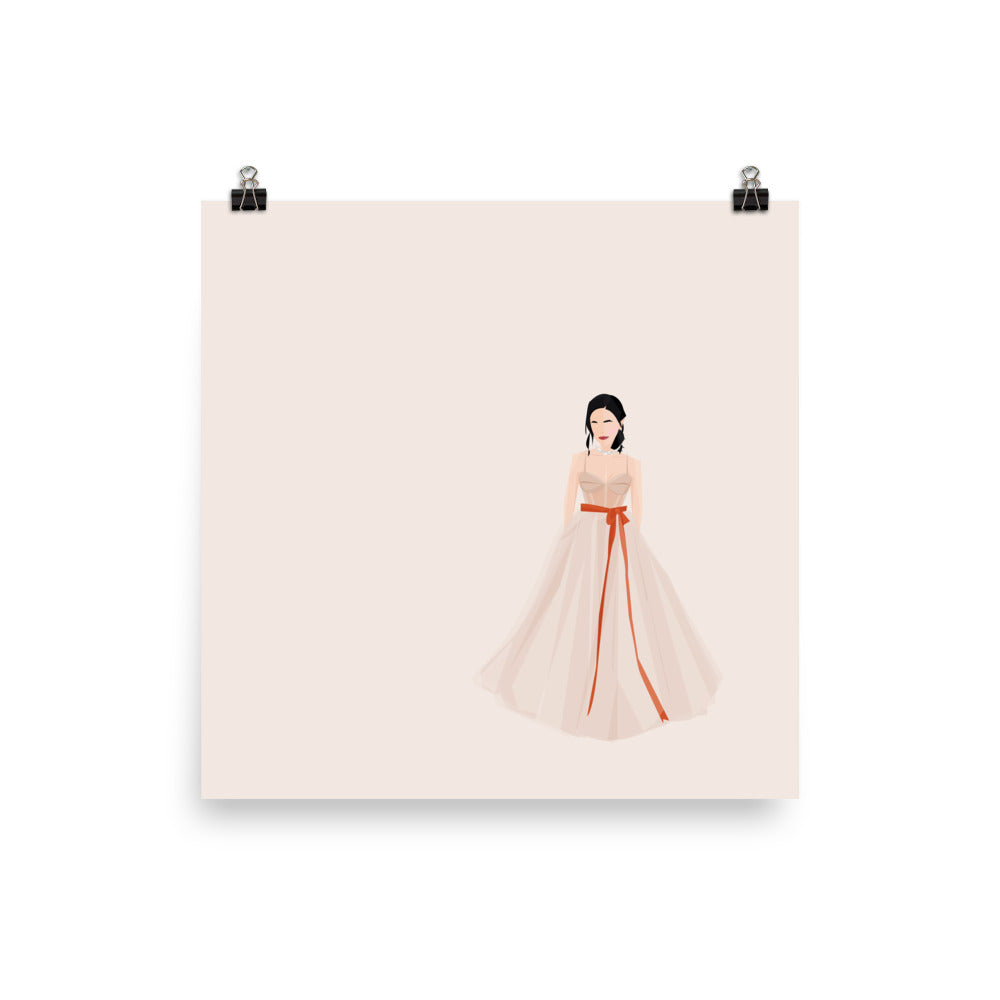 Constance Wu at 76th Golden Globe - Illustrated Poster