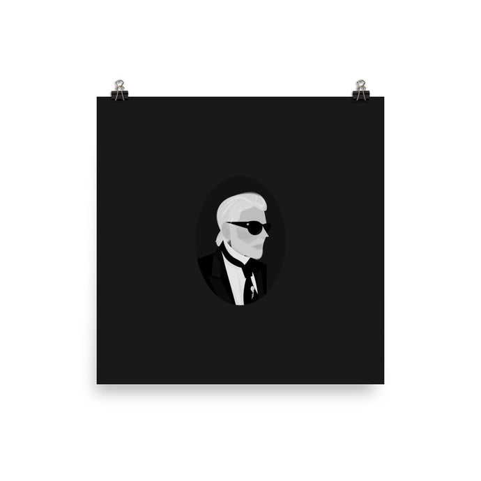Karl Lagerfeld - Illustrated Poster