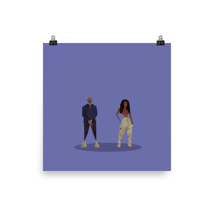 Kanye West We Got Love ft. Teyana Taylor - Illustrated Poster