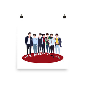 BTS at Billboard Music Awards 2018 - Illustrated Poster