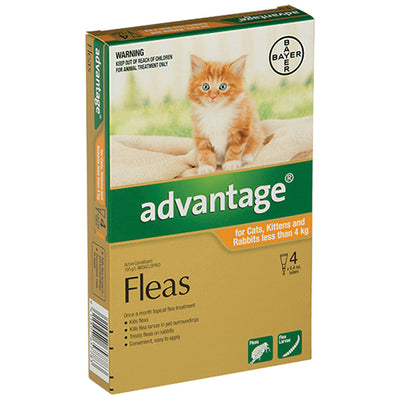 Advantage for Small Cats and Kittens Less than 4kg Flea & Worm