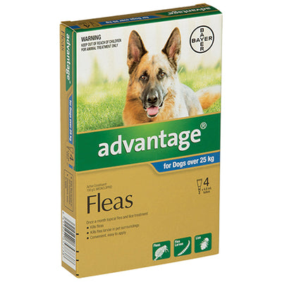 Advantage for Dogs over 25kg Flea & Worm