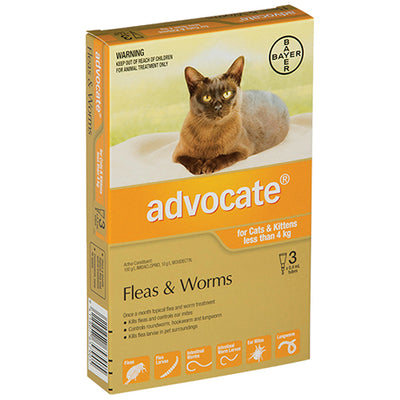 Advocate for Small Cats & Kittens Less than 4kg Flea & Worm