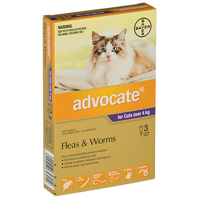 Advocate for Large Cats over 4kg Flea & Worm