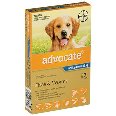 Advocate XL dogs 25-50kg Flea & Worm