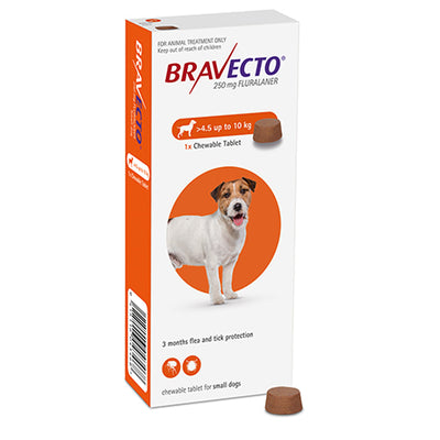 BRAVECTO Chewable Small Dog 4.5-10kg