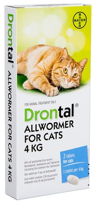 Drontal Allwormer For Cats 4kg Flea & Worm