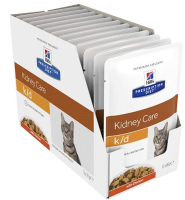 Hill's Prescription Diet Feline k/d Chicken Pouches 12 x 85gm