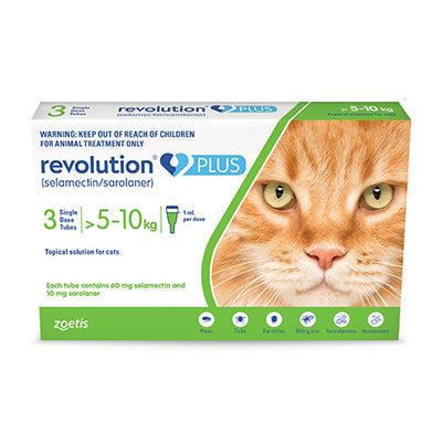 Revolution Plus For Large Cats - 3 Pack Flea & Worm