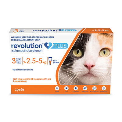 Revolution Plus For Medium Cats - 3 Pack Flea & Worm