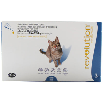 Revolution For Cats Up to 7.5kg Flea & Worm