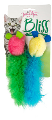 Trouble & Trix Bliss Tweet Mice 2pk Pet Accessories