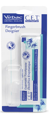 CET Finger Brush With Toothpaste Packet Pet Health