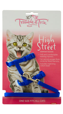 Trouble & Trix Cat Harness Set High Street