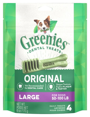 Greenies Dental Chews For Large Dogs 4 Pack