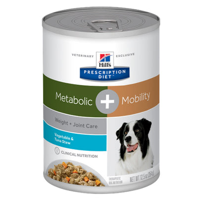 Hill's Prescription Diet Metabolic + Mobility Vege & Tuna Stew 354gm Vet Food
