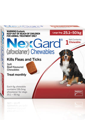 NEXGARD Chewables Large Dog Flea & Worm