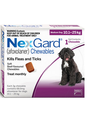 NEXGARD Chewables Medium Dog Flea & Worm