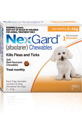 NEXGARD Chewables Very Small Dog Flea & Worm