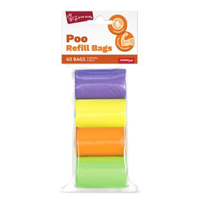 Poo Bag Dispenser Refill Bags (60 bags)