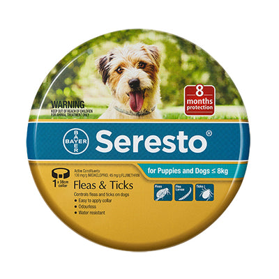 Seresto Flea and Tick Collar for Dogs under 8kg
