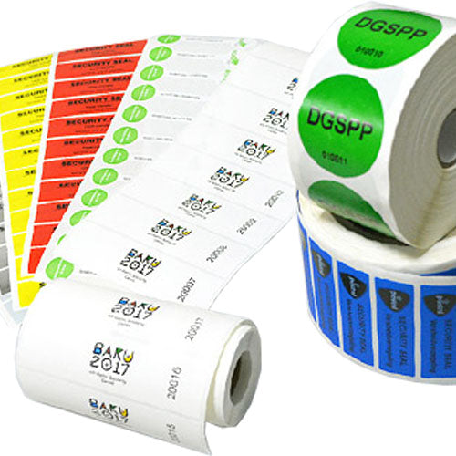 Custom Designed Security Tamper Evident Labels