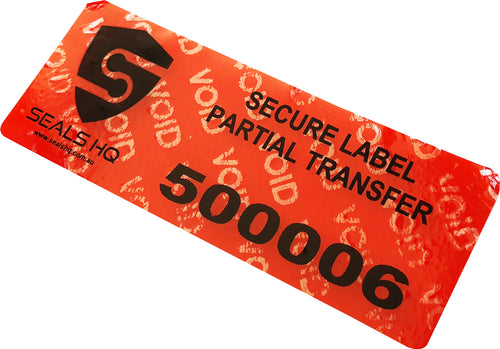 Security Label | Partial Transfer | 78mm x 30mm
