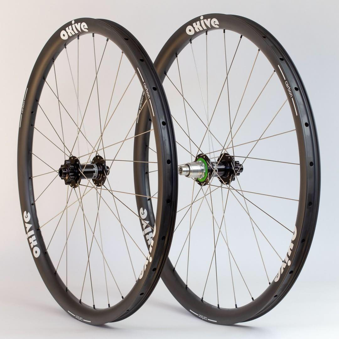 "[OX29AS33]  Asymmetric 33mm Width Carbon Fiber 29"" MTB Clincher Rim Hookless FREE SHIPPING"