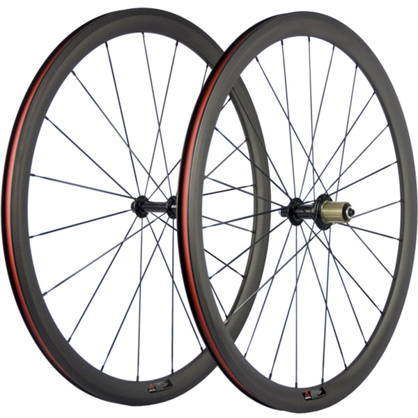 Carbon Wheels 38mm Clincher Tubular Road Bicycle Carbon Wheelset