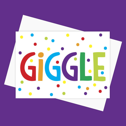 Greeting Card - GIGGLE