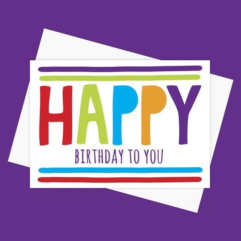 Greeting Card – HAPPY BIRTHDAY