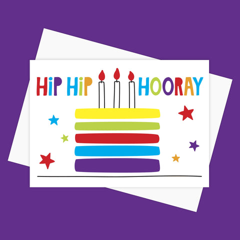 Greeting Card – HIP HIP HOORAY
