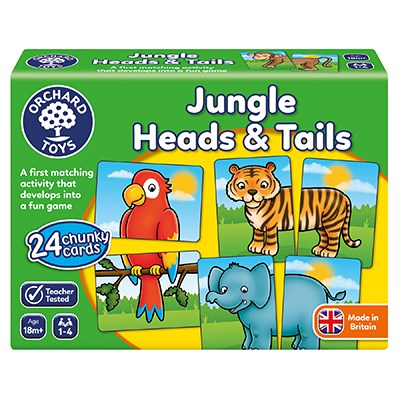 Orchard Toys Jungle Heads & Tails Matching Game