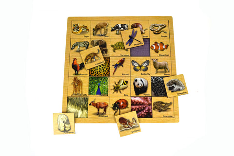 Matching Animal Skin Wooden Puzzle - Kaper Kidz