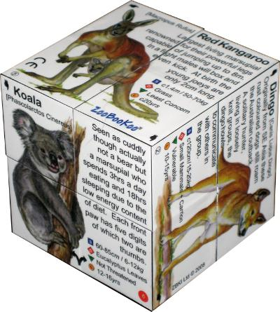 ZooBooKoo Cube Book - Australian Animals