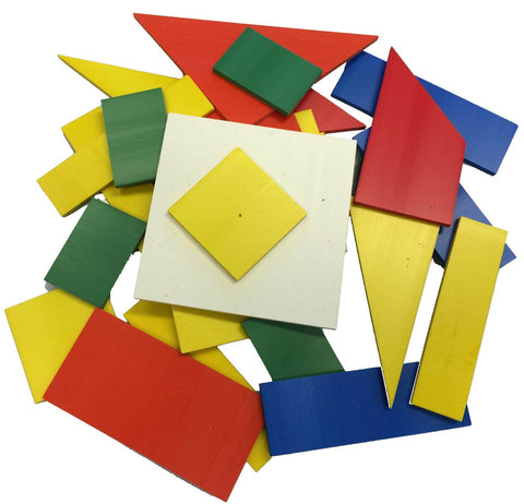 Fractions Coloured Tile Shape Set