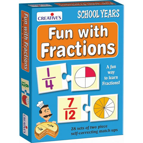 Fun With Fractions by Creatives 28 piece match up puzzle