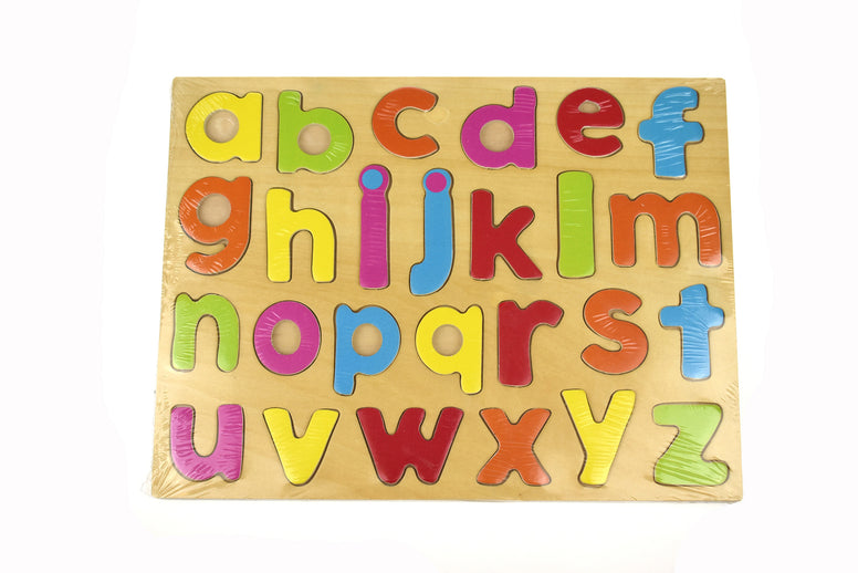Wooden Lower Case Alphabet Letters Puzzle