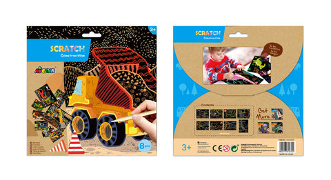 Avenir Scratch Art Kit -  Construction