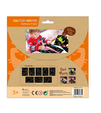 Avenir Scratch Art Kit - My Dinosaur Friends