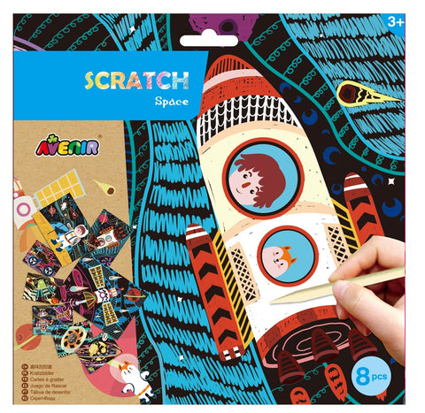Scratch Art Craft Kit Space Theme